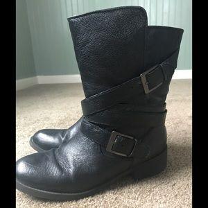 Steve Madden Black Moto Boot